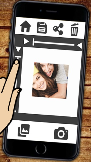 White frame for your photos on the App Store