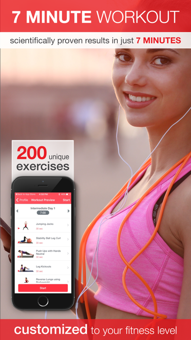 7 Minute Workout - Beginner to Advanced High Intensity Interval Training (HIIT)のおすすめ画像1