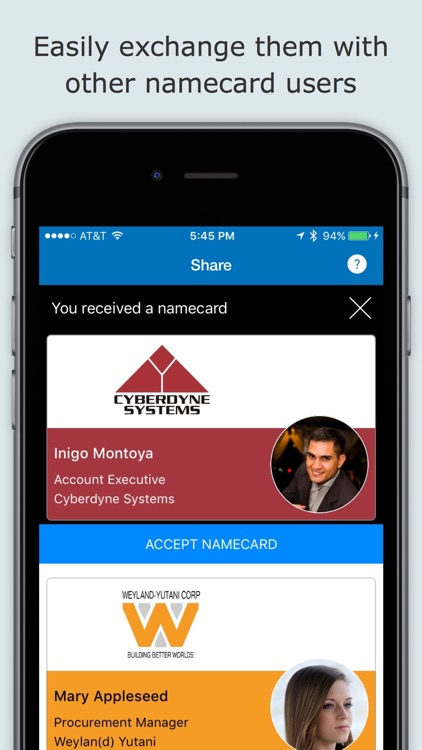 namecard - The new age of contact exchange