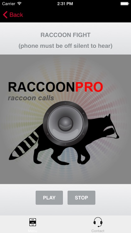 Raccoon Hunting Calls - With Bluetooth - Ad Free