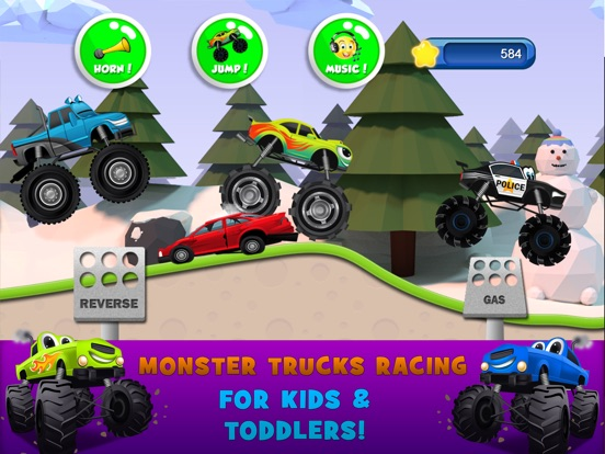 Monster Trucks Kids Racing Game на iPad