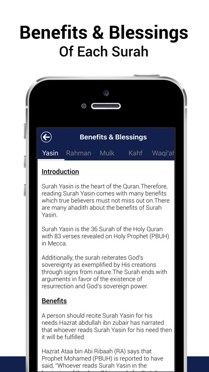 5 Surahs - Mostly read five Surah of Al-Quran with proper Tajweed, 15+ Translations & Recitation screenshot-3