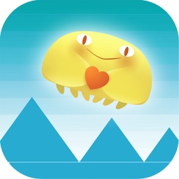 Jelly Heart Octopus Adventure - Spike Avoid Casual Game Free