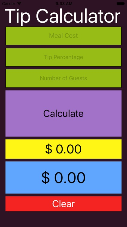 Exact Tip Calculator