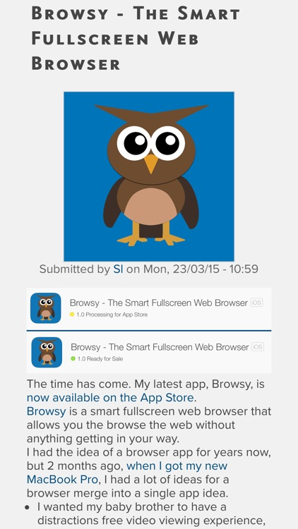Browsy - The Smart Fullscreen Web Browser and Website Markdownifier