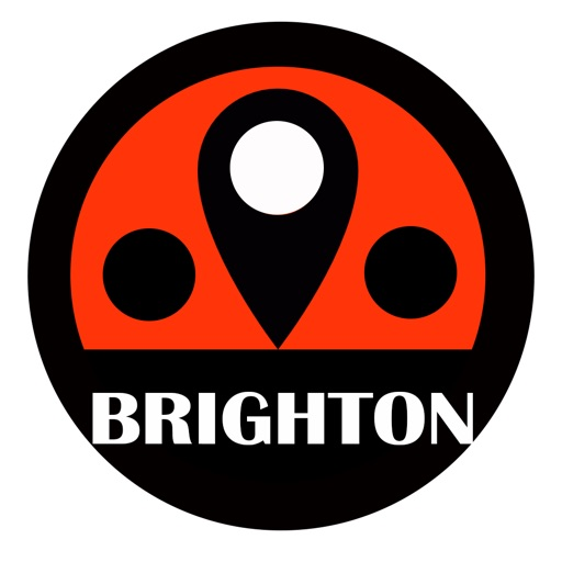 Brighton travel guide with offline map and London tube metro transit by BeetleTrip