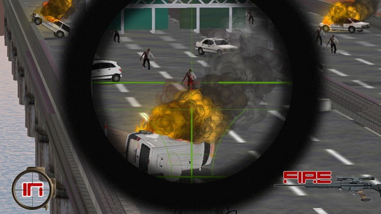 A Zombie Sniper - Highway War Free screenshot-0