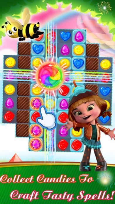 Sweet Bakery - 3 match Cookie Mania puzzle splash game screenshot two