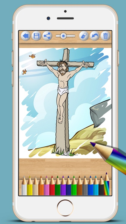 Children's Bible coloring book - Paint drawings screenshot-3