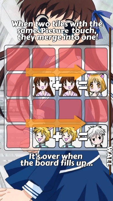 Screenshot 5 For 2048 PUZZLE Fruits Basket Edition Anime Logic Game Character