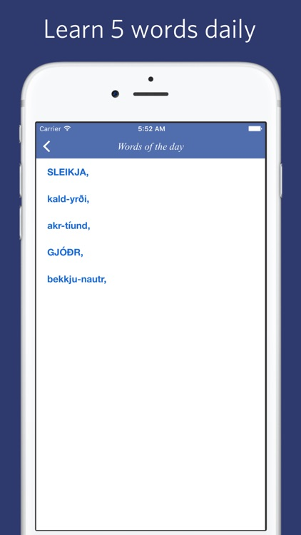 Icelandic English Dictionary screenshot-4