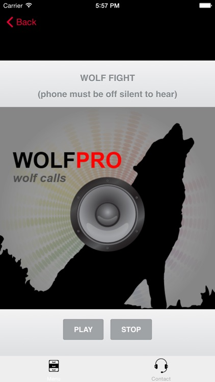 REAL Wolf Calls and Wolf Sounds for Wolf Hunting - BLUETOOTH COMPATIBLEi screenshot-0