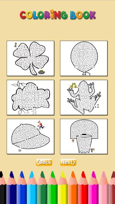 迷宮著色書:學習找到迷宮寶藏,為兒童免費遊戲屏幕截圖3