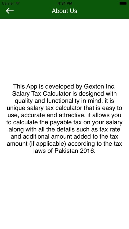 Salary Tax Calculator Pakistan screenshot-3