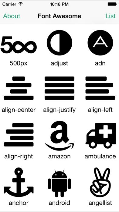 Font Awesome Cheat Sheetのおすすめ画像2
