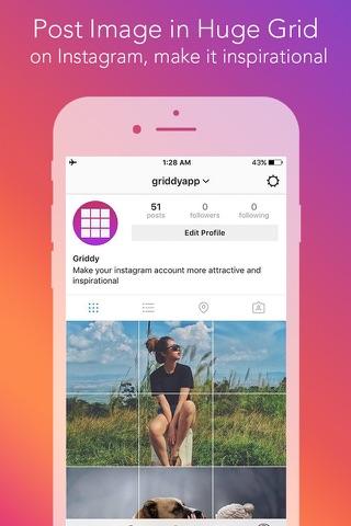 Griddy Pro - Split Pic in Grids For Instagram Post screenshot 1