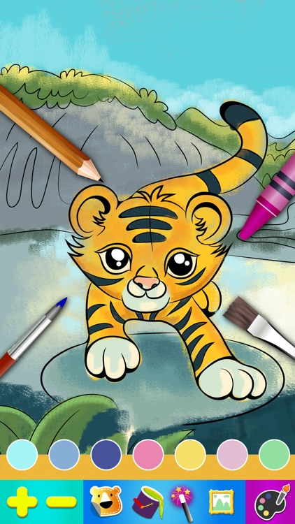 Color Books - The best coloring and drawing animal app for kid