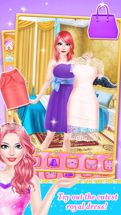 Princess Fashion - Royal Family Salon: SPA, Makeup & Makeover Game for Girls screenshot-3