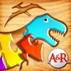 My First Wood Puzzles: Dinosaurs - A Free Kid Puzzle Game for Learning Alphabet - Perfect App for Kids and Toddlers! - iPhoneアプリ