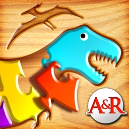 My First Wood Puzzles: Dinosaurs - A Free Kid Puzzle Game for Learning Alphabet - Perfect App for Kids and Toddlers!