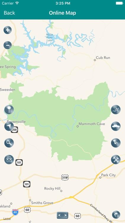 Mammoth Cave National Park Map screenshot-4