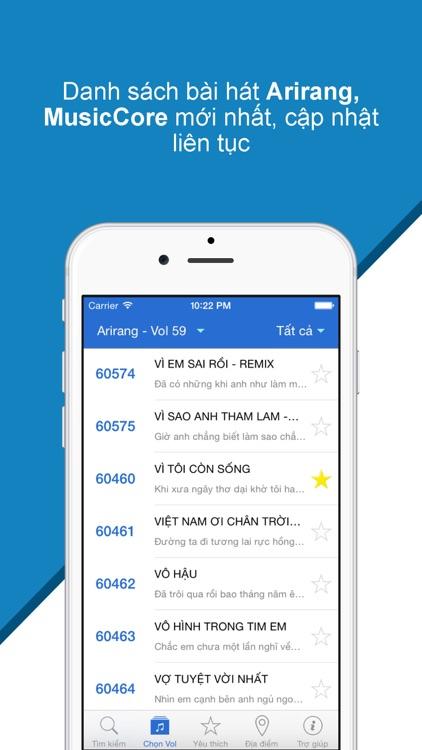 Karaoke Mobile - Tìm mã số bài hát 5, 6 số karaoke Arirang, MusicCore