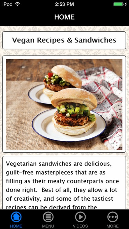 Easy & Best Healthy Vegan Sandwiches & Recipes for Beginners screenshot-0