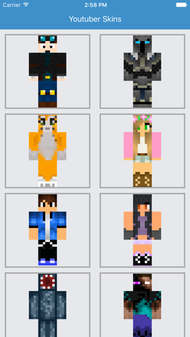 Youtuber Skins - Best for Minecraft PE Free App-1