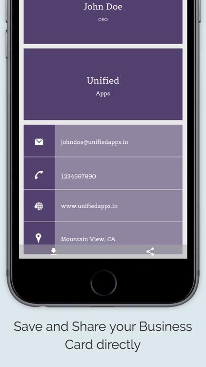Business Card Maker App screenshot-4