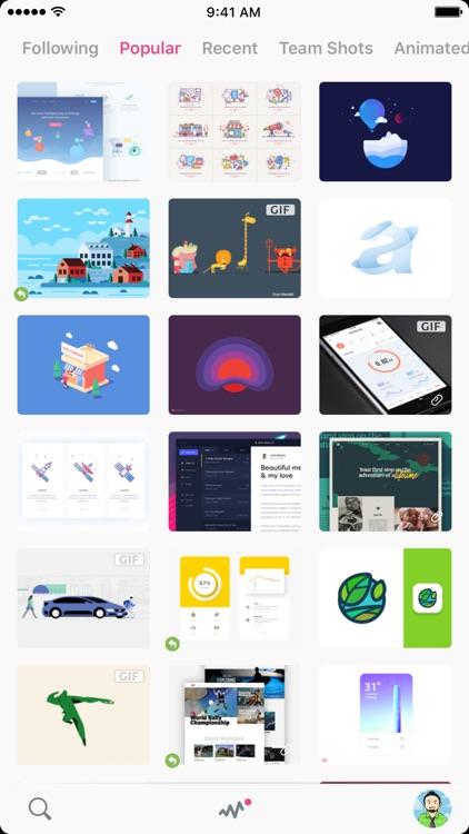 ZEEEN - Dribbble client - screenshot-0