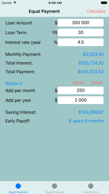 Loan Calculator: Early payoff (Pro)