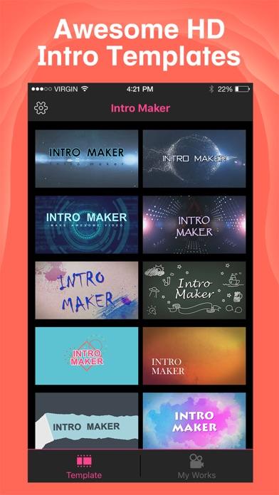 Intro maker yt intro designer by zhang dan ios united kingdom screenshots maxwellsz
