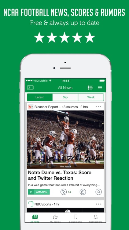 College Football News - Live Scores, Rumors & Videos - Sportfusion