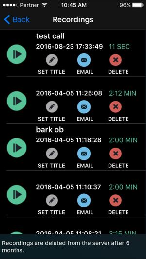 CallRec Pro - IntCall Screenshot