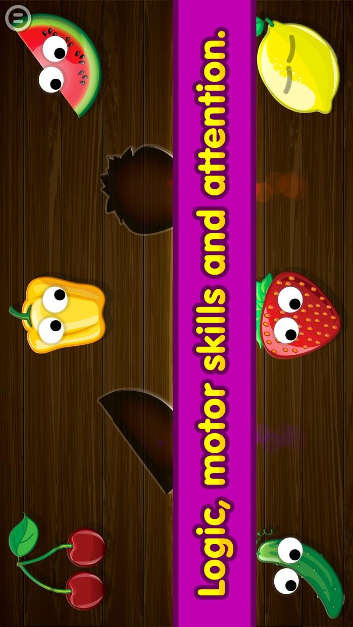 Kids Food Games: Toddlers, Boys Girls Puzzle Free Screenshot