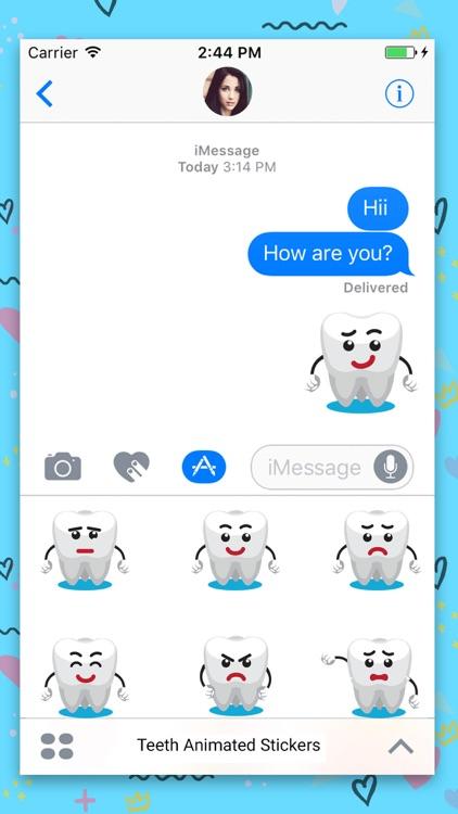Teeth Cartoon Animated Sticker