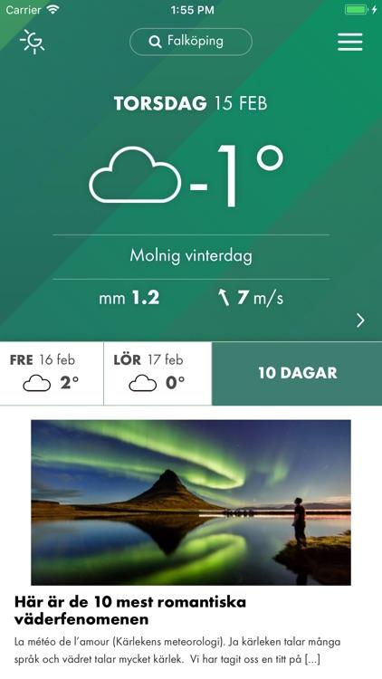 Grönt väder – lokal prognos