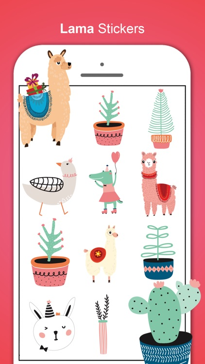 Llama Love Stickers screenshot-0