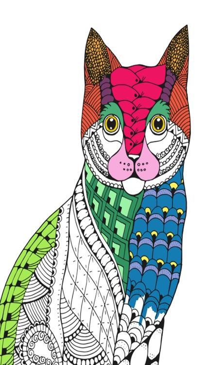 Cats mandalas coloring book for adults - Premium screenshot-4