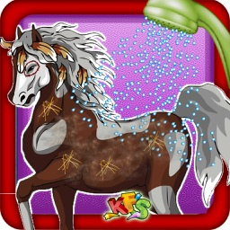Horse Care & Grooming – Pet cleaning fun for kids