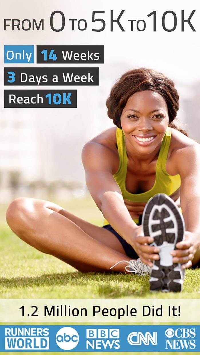 10K Runner: 0 to 5K to 10K Trainer, Run 10K. Screenshot