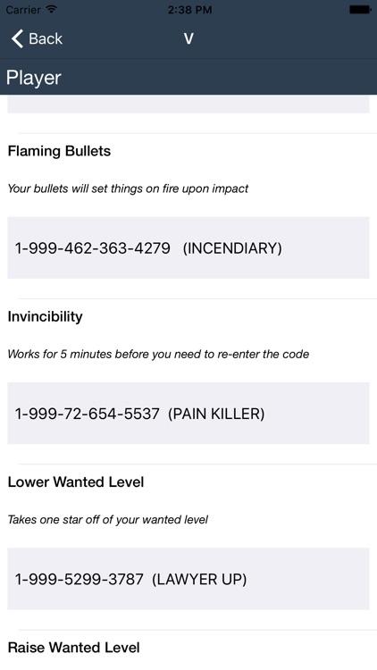 Cheat codes for GTA 5 screenshot-3