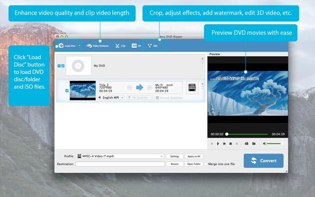 Any DVD Ripper-Rip DVD to MP4 on the Mac App Store