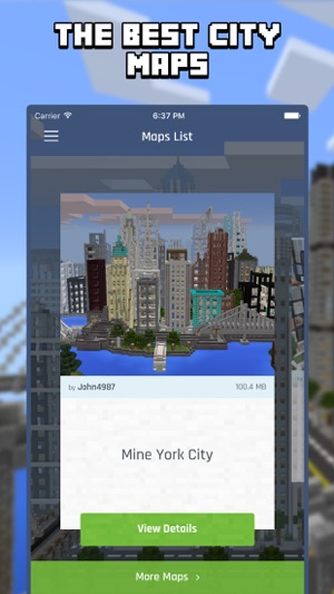 City Maps For Minecraft PE Best Minecraft Maps On The App Store - Minecraft maps fur ipad