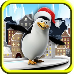 Flying Penguins in New York Free - The crazy birds sliding on the town - Free Version