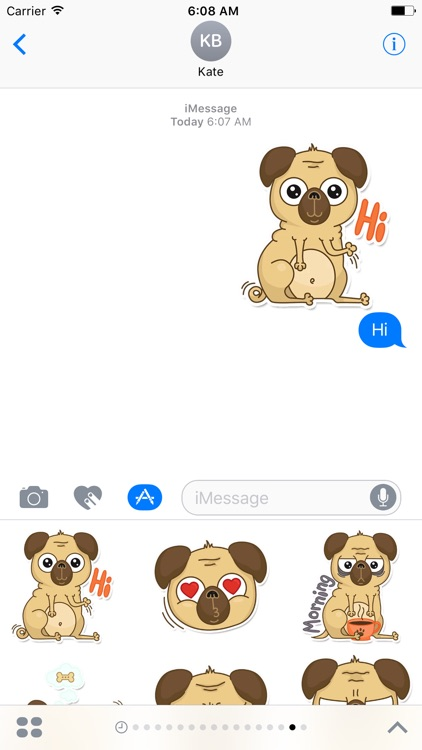 Beanie Babies - Pugsly Sticker Pack for iMessage