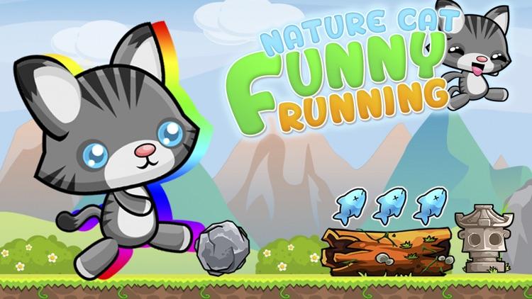 Nature Cat Funny Running
