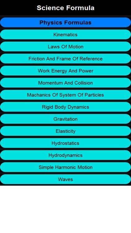 Science formula