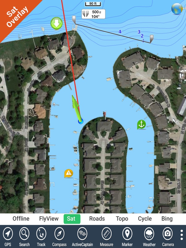 IOWA Lakes HD GPS tracker fishing