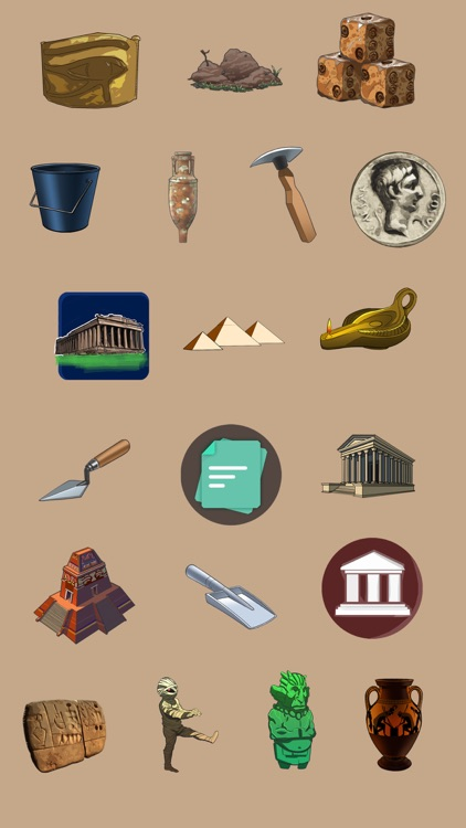 Archaeology Emoji Stickers
